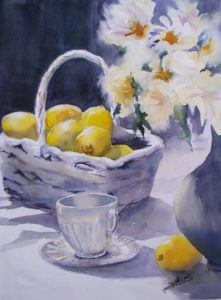 Sparkling Watercolor Still Life Painting (ages 13+)